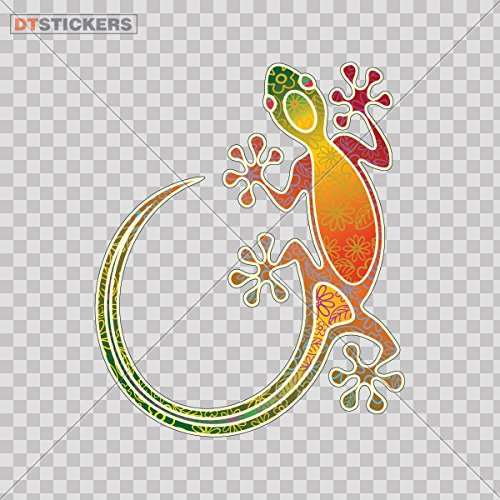 Decal Colorful Lizard Gecko Car window jet ski (8 X 6,61 In. ) Fully Waterproof Printed vinyl sticker
