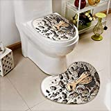 Analisahome 2 Piece Toilet Cover set Fist through wall in Bathroom Accessories
