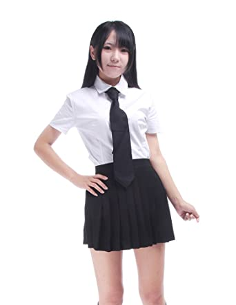 Nuotuo Women Uniform Skirts Summer Cotton Blends British Style Pleated  Skirts Set