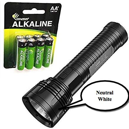 Bundle: Nitecore EA81 CREE XHP50 Neutral White Flashlight/Searchlight 2150 Lumens w/8x Eco-Sensa AA batteries by Nitecore