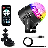 Portable Party Lights,Rotate Colored LED Mini Disco Ball Party Light/Sound Activated/Strobe Light for Dance Night Club/Christmas/Wedding/DJ Lighting for Car,KTV,Bar,yacht party,Club and home(with USB)