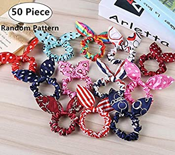 Woman Bowknot Print Floral Headbands Hair Accessories Rabbit Ears Elastic Hair Bands Headwear Head Band Headdress Y Available In Various Designs And Specifications For Your Selection Women's Hair Accessories