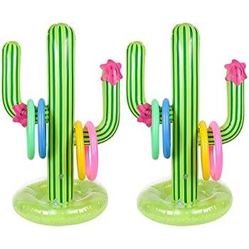 Amazon.com: 2 cactus hinchables con base en maceta para ...