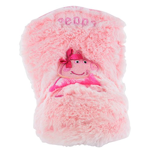 Peppa Pig High-Top Slippers Pink Sizes 5 to 10