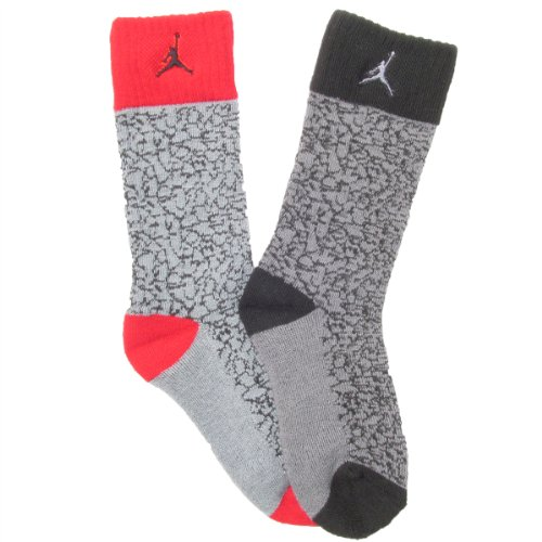 9f5ddc830fb57 Jordan Kids Retro Flight Crew Socks Black, 13-5 Shoe/ 7-9 Sock ...