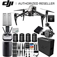 DJI Inspire 2 Quadcopter (CinemaDNG and Apple ProRes Licenses Included) with Zenmuse X7 + DL & DL-S Lens Set Ultimate Handheld Bundle