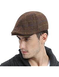 201e5b8f243 Mens Winter Wool Blend Newsboy Cap Warm Flat Ivy Driving Cap