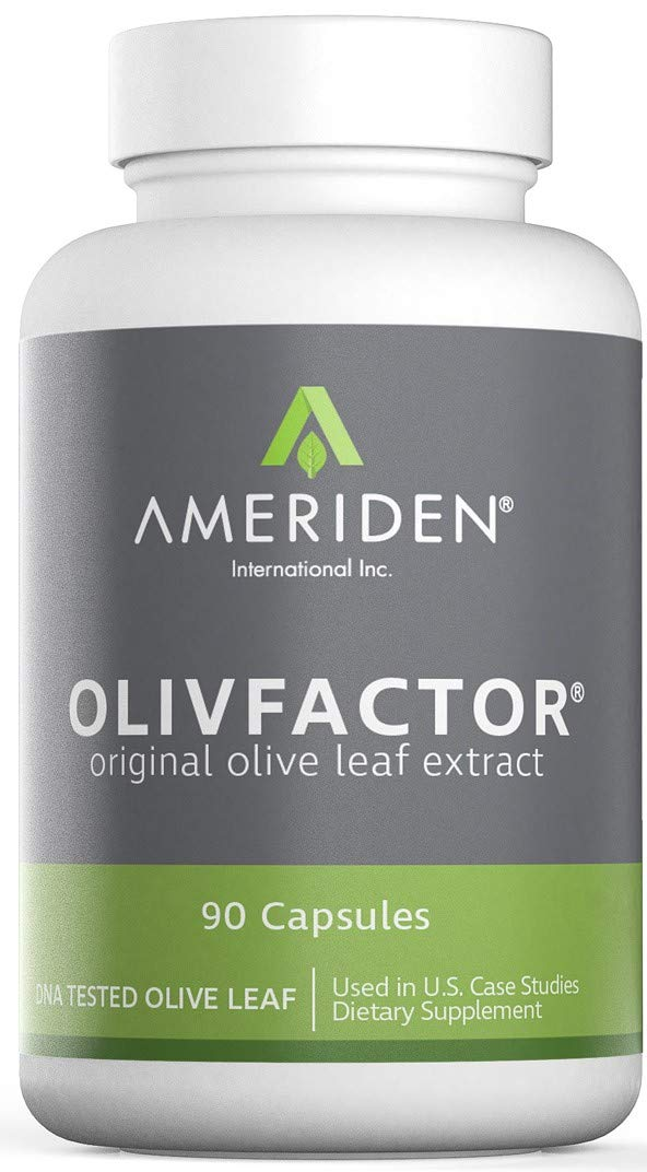 Olive Leaf Extract-OlivFactor® Potent 20% Standardized DNA Tested & Verified 90 Vcaps 525mgs