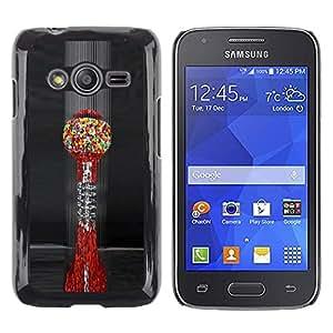 Caucho caso de Shell duro de la cubierta de accesorios de protección BY RAYDREAMMM - Samsung Galaxy Ace 4 G313 SM-G313F - Art Blood Cells Colorful