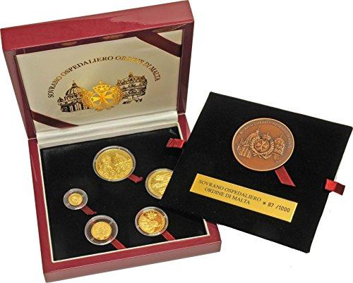2004 KNIGHTS OF MALTA 5 COIN GOLD SET GEM PROOF