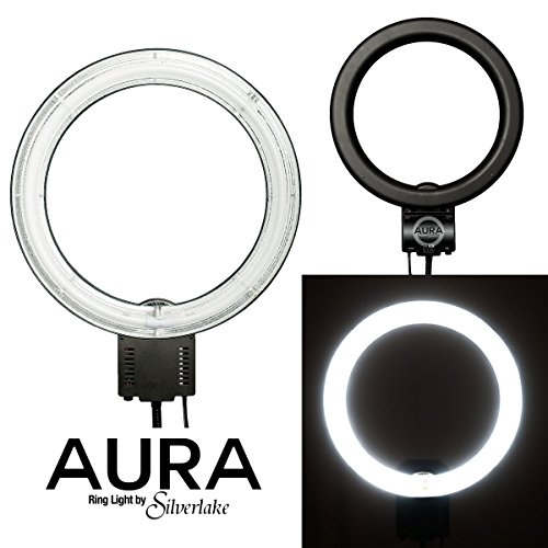 AURA Ring Light - Large, 19-Inch, 55W Soft Fluorescent Ring Light for Pro Studio Lighting - Shadowless Studio Lighting for Videos, Still Photography, Products, YouTube Videos, Portraits & More - Lente De Camara Para Celulares
