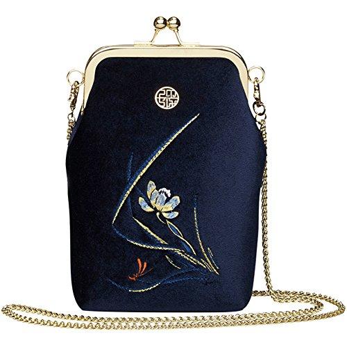 LL-COEUR , Damen Schultertasche Blau marineblau 13cm x 5cm x 21cm