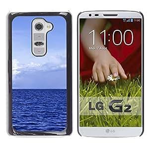 """For LG G2 , S-type Océano azul"""" - Arte & diseño plástico duro Fundas Cover Cubre Hard Case Cover"""