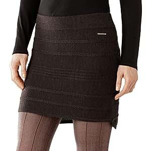 Smartwool Women's Caverna Cable Skirt, Chocolate Heather, Medium