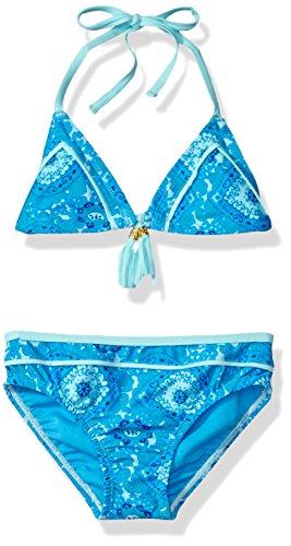 Tommy Bahama Big Girls' Two Piece Triangle Top Bikini, Blue, (Bahama Bikini Top)