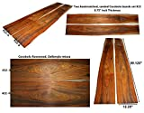 Cocobolo boards set #12, 89.125'' long x 12.25'' wide x 0.75'' thick
