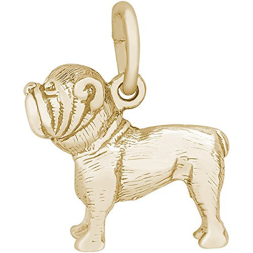 Rembrandt Charms 14K Yellow Gold Bulldog Charm (12.5 x 13 mm)