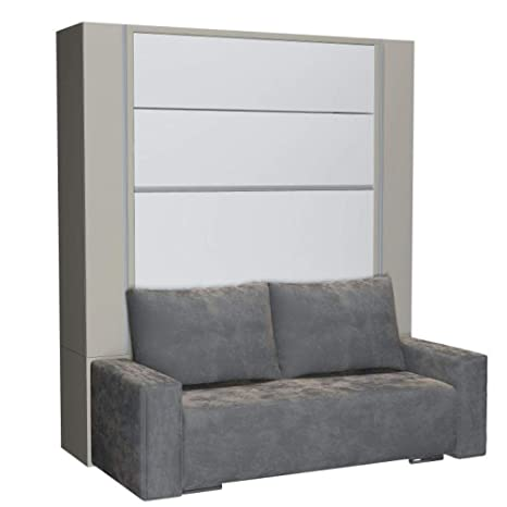 Inside75 Beluga Sofa - Armario Cama Plegable (140 cm ...