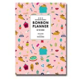"""'THE BONBON' Planner Undated Schedule Planner 2016 Yearly Monthly Academic Planner Organizer Agenda notebook, PVC Cover, 60p, 7.08""""X10.03"""" (Wind)"""