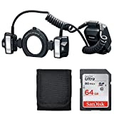 Canon Macro Twin Lite Mt-26Ex-Rt Camera Flash + 64GB Memory Card + Card Wallet - Top Value!