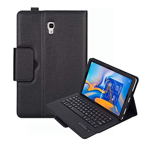 Keyboard Case for Samsung Galaxy Tab A 10.5 (SM-T590 / T595 / T597), YMH Detachable Magnetic Removable Wireless Bluetooth Smart Keyboard Cover Protective Stand Book Folio Slim Fit PU Leather (01)