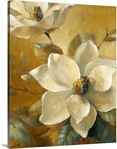 Magnolias Aglow at Sunset I Canvas Wall Art Print