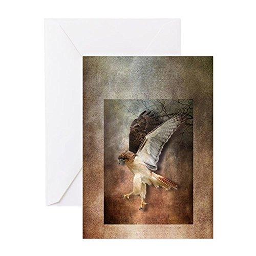 CafePress Evening Hawk Greeting Card, Note Card, Birthday Card, Blank Inside Glossy