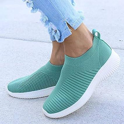 MZNSYDX Zapatos Casuales de Mujer Zapatillas de Deporte de Moda ...