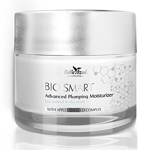 Belle Azul Bio Smart Plumping Moisturizer - Deeply Hydrating Intense Moisture Day/Night Cream with Apple Stem Cells Complex 50 ml / 1.67 fl.oz
