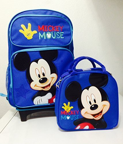 12dcef185e4 Disney Mickey Mouse Rolling Backpack with Detachable Wheeled Trolley- 16