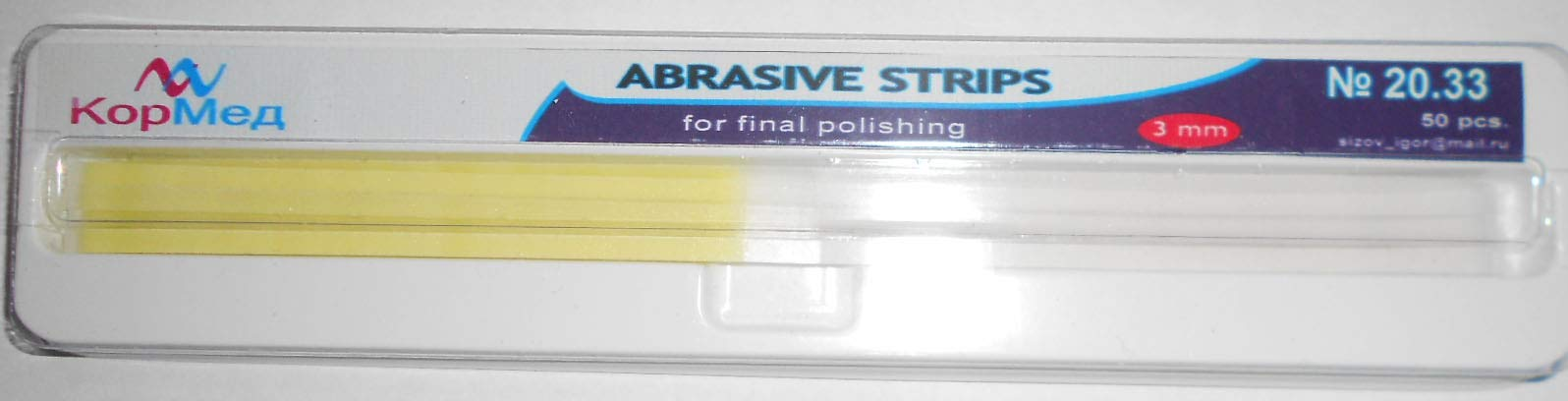 Dental Abrasive Strips for Polishing