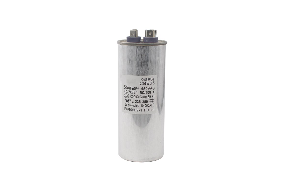 CBB65 450VAC 55uF +5% 50/60Hz Run Motor Capacitor For Air Conditioner Compressor Start Capacitor