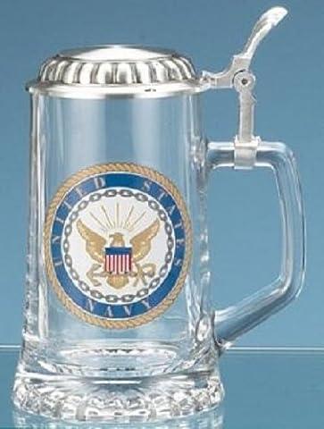 M. CORNELL IMPORTERS 4726 Navy Glass Stein - Navy Stein