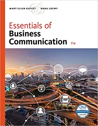 Essentials Of Business Communication Mindtap Course List
