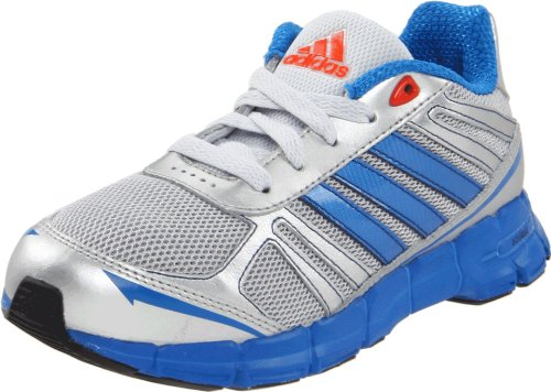 adidas Fast Running Shoe (Little Kid/Big Kid),Clear Grey\Prime Blue\High Energy,4 M US Big Kid