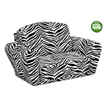 Children's Upholstered Sleepover Chair - Kids Fold Out Armchair for Reading, Gaming and Slumber Parties - Fun Space Saving Sofa Bed- 2 Fabric Choices