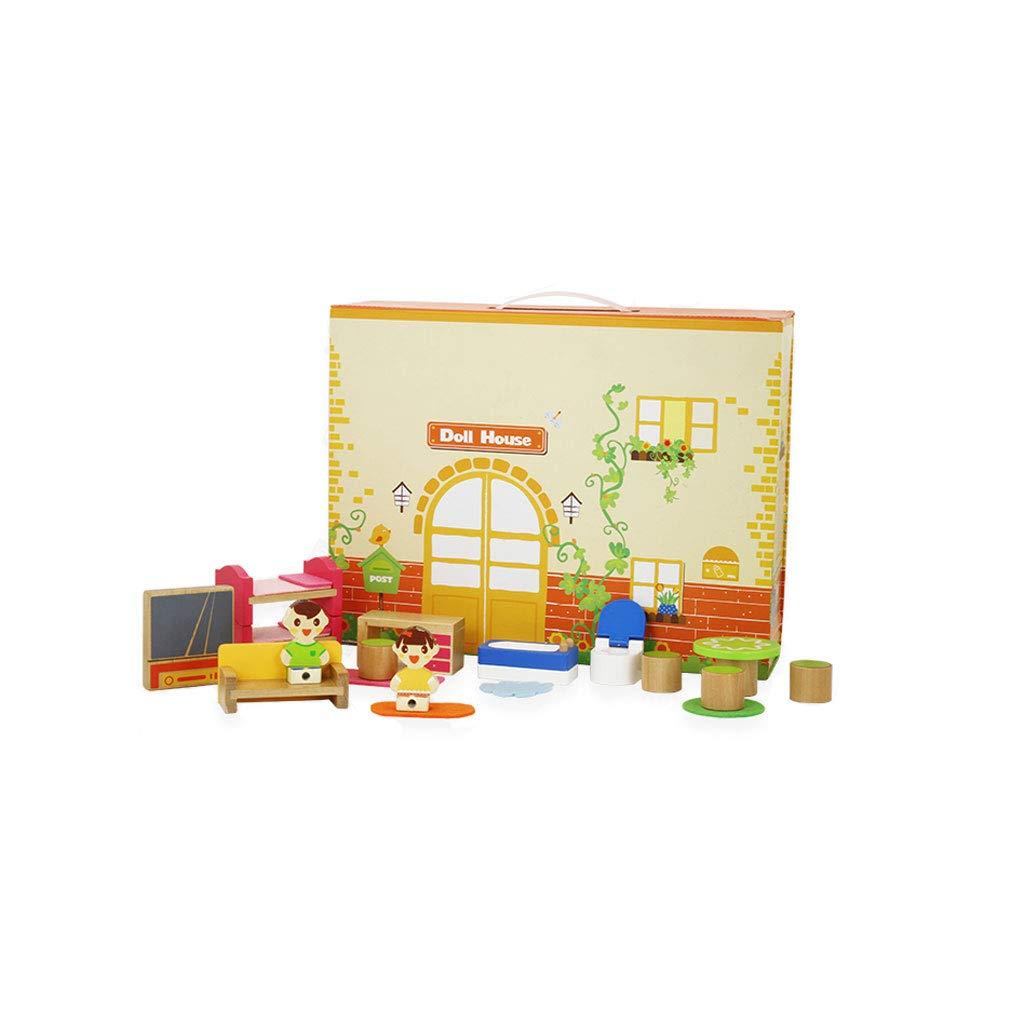 HXGL-Toys 子供用木製おもちゃブロック 組み立て済み 環境に優しい素材 マルチカラー M HXGL-007 Medium  B07MH9GTTK