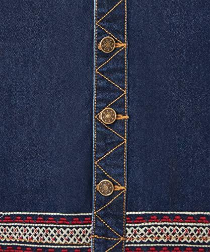Bleu brode Browns Jupe Jean Femme en boutonne Joe xvTqS01wn