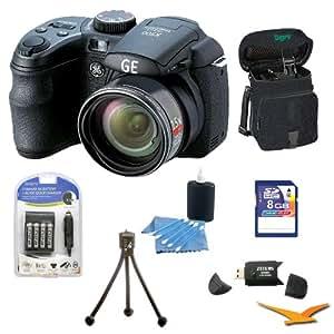 General Electric Power Pro X500-BK 16 MP with 8GB Camera Bundle (Black)