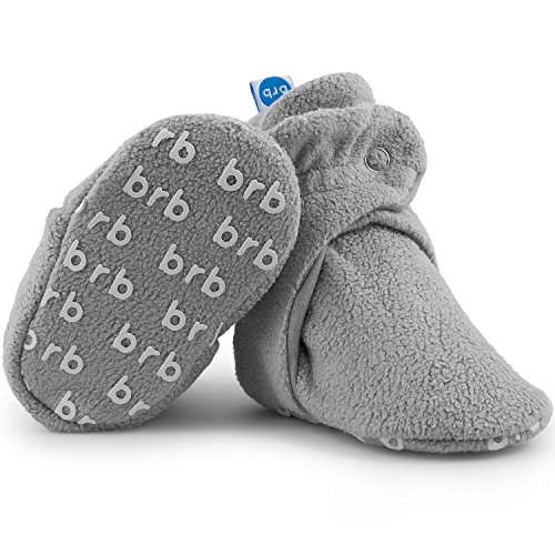 Fleece Organic (Fleece Baby Booties - Organic Cotton & Gripper Bottoms, Cozy Boys & Girls Bootie (US 2.5, Koala))