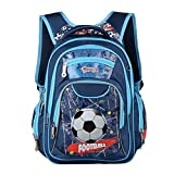Toddler's Kid's Backpack-Cool Football Shool Bag Backpack Bookpack Casual Daypack for Boys Girls 6-12 Years Old Blue one Size