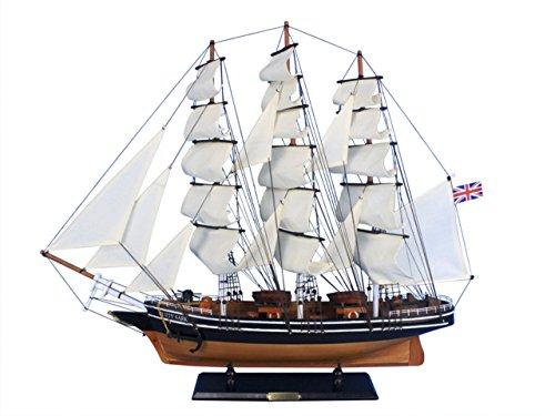 - Hampton Nautical Wooden Cutty Sark Tall Model Clipper Ship, 30