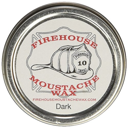 Firehouse Moustache Wax – Dark Wax, 1 Ounce