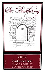 2002 St. Barthelemy Cellars Zinfandel Port 750 ml