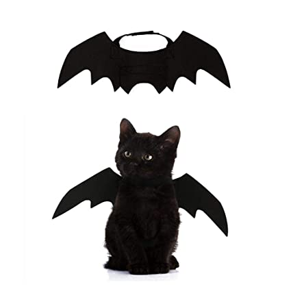 f5e040d8ba49 Crewell Halloween Props Pet Dog Cat Bat Wing Cosplay Prop Halloween ...