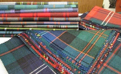 15 piezas Parches de tela escocesa para patchwork