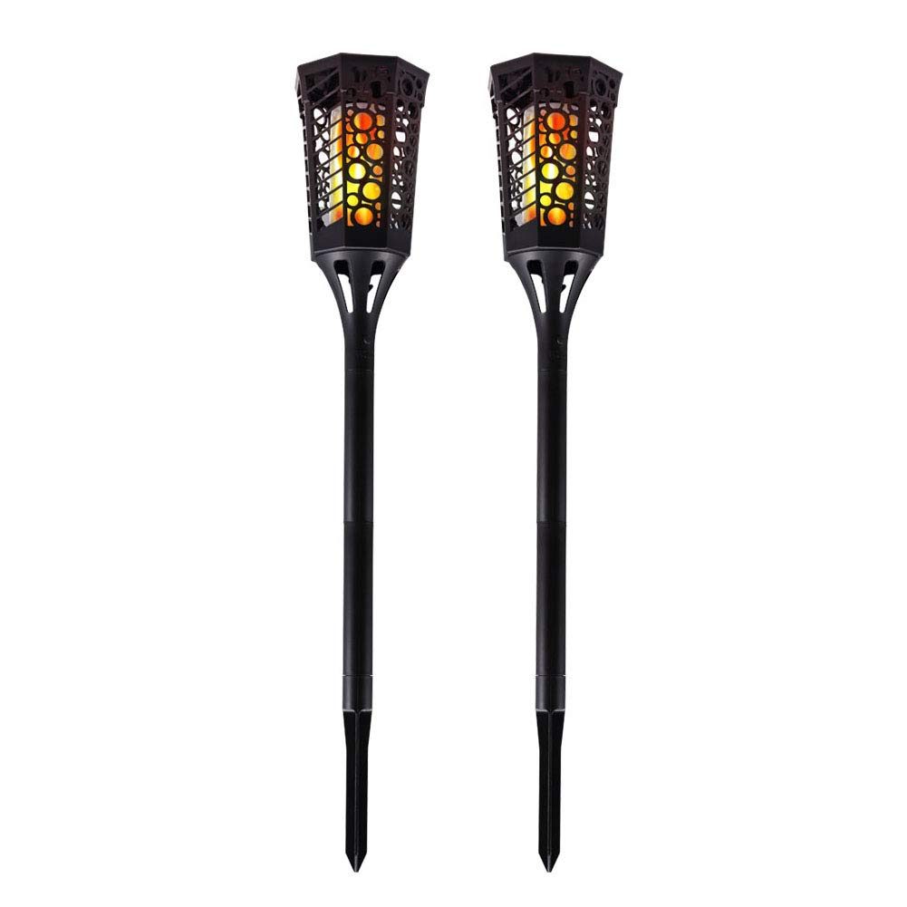 Solar Lights Outdoor,Upgraded 99 LED Dancing Flickering Flames Torches Lights Waterproof Wireless Lamp for Garden, Patio, Yard, Driveway-2 Pack