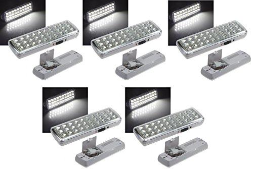 5 er Set LED Akku Notleuchte Notbeleuchtung Sicherheitsleuchte mit 30 LED's 21505