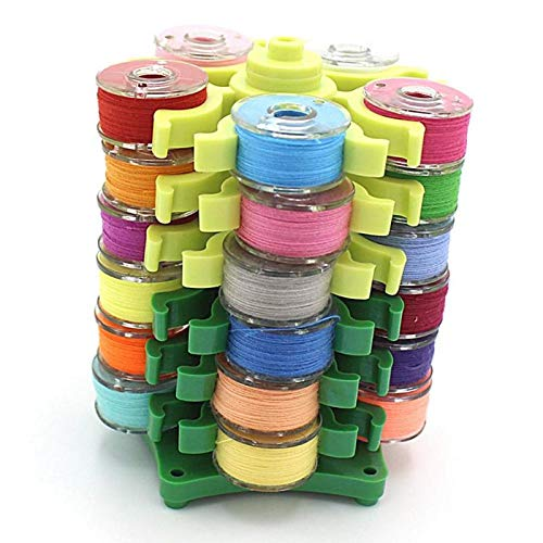 (Sewing Tools Accessory - Embroidery Bobbins Tower Storage Rotary Collection Shelf Detachable Shuttle Core Collecting Clip And - Tambour Rack Cross Tower Thermostat For Shuttle Hoop Bobbins Case)