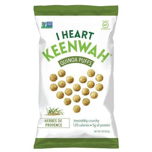 I Heart Keenwah Quinoa Puffs, Herbes de Provence, 3 Oz, Vegan, Gluten-Free (Pack of 12)